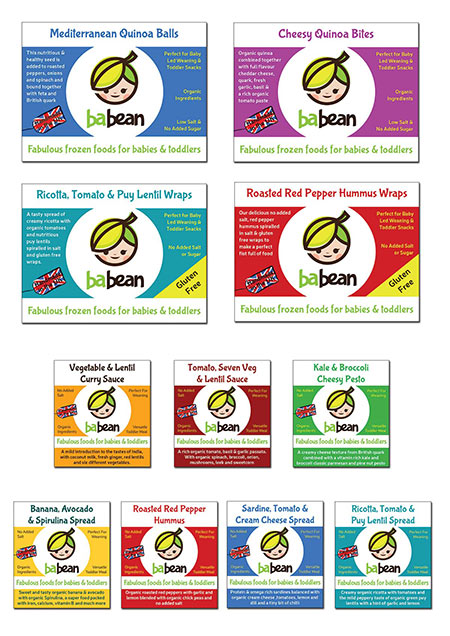 Babean Baby and Toddler Food Packaging