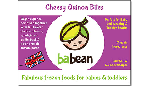 Cheesy quinoa bites for baby and toddler food